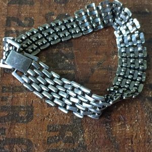 Jewelry - Vintage silver flat chain bracelet